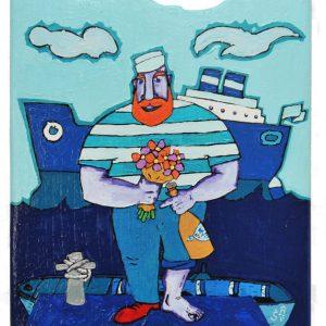 Painting – Sailor with Orange Beard