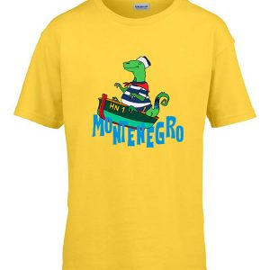 Kids T-Shirt Dino in the Boat