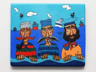 tri mornara,25x25cm, 35e